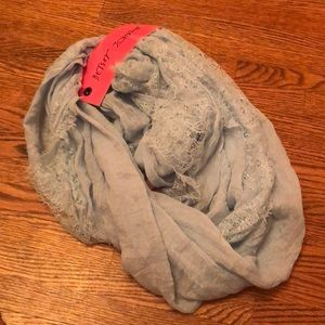 Betsey Johnson Lace Infinity Scarf. NWT.